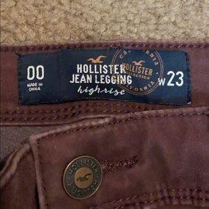 Burgundy Hollister Jeans